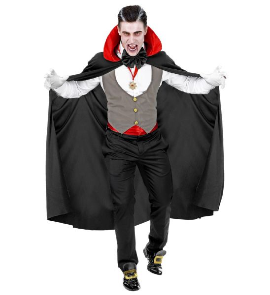 Adults Mens Adult Vampire Halloween Gothic Fancy Dress Costume
